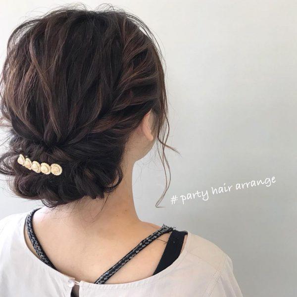 ロープ編みのデート向けロングの髪型