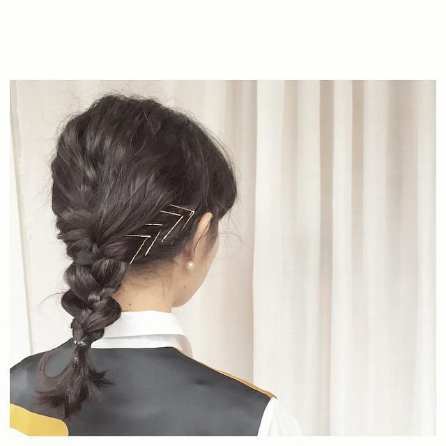 簡単編み下ろしのデート向けミディアムの髪型