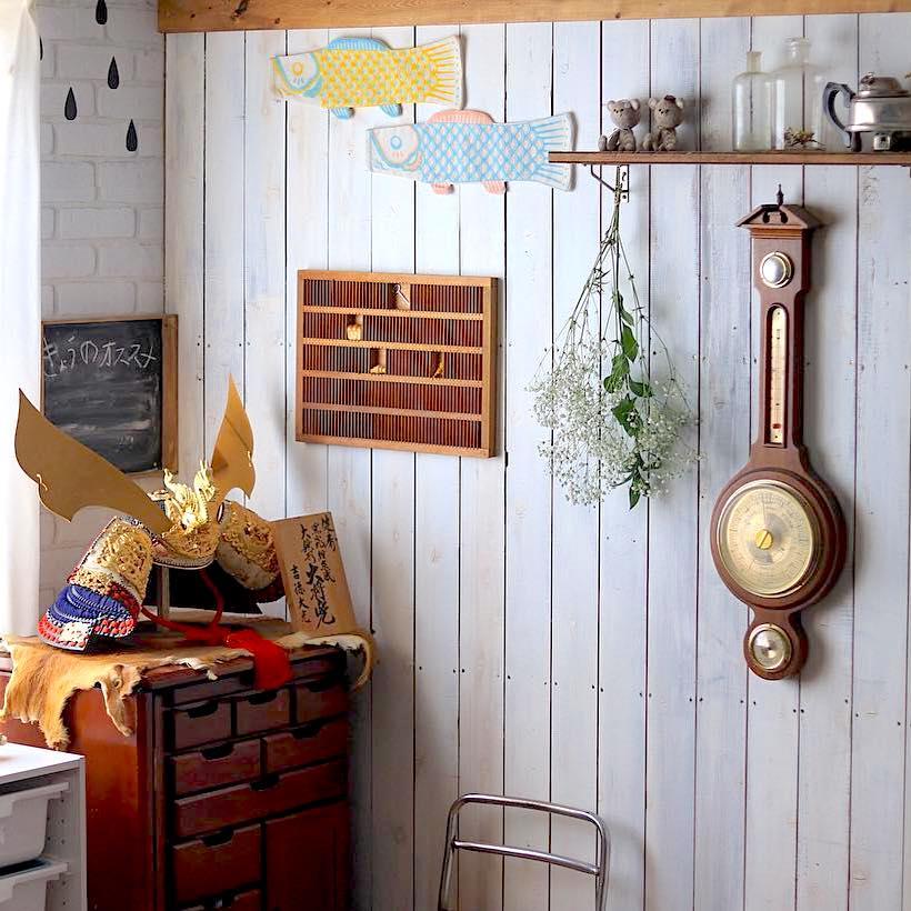 洋風インテリアで楽しむ♪『五月人形&鯉のぼり』のディスプレイアイデア