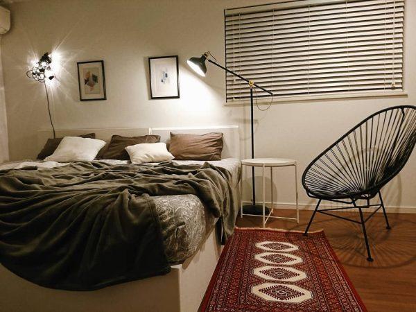 バランスの良い間接照明で寝室を快適に