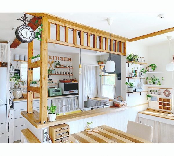 キッチンカウンター DIYアイデア9