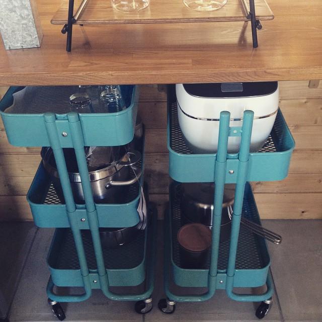 キッチン家電の収納アイデア7