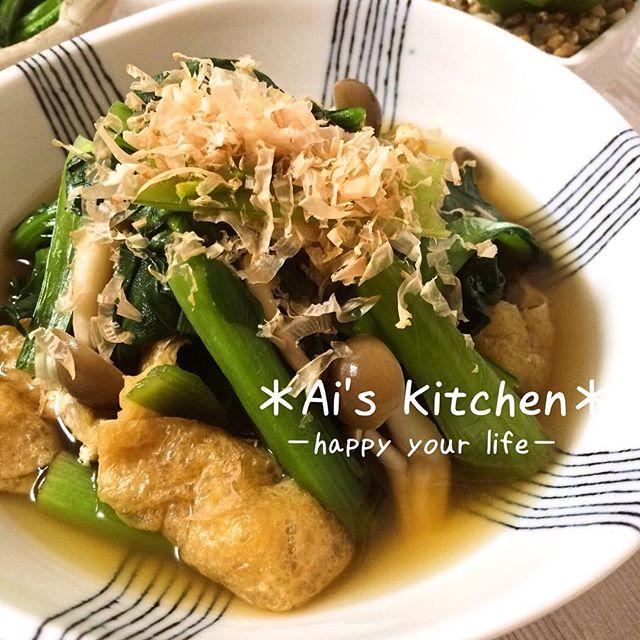 大量消費で人気の和風料理!小松菜の煮びたし