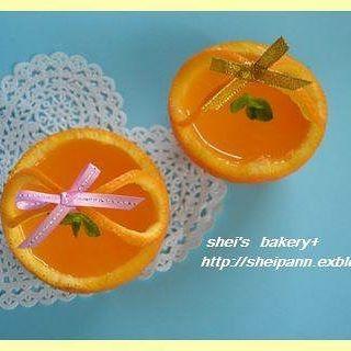 おしゃれなアレンジレシピ!オレンジ丸ごとゼリー