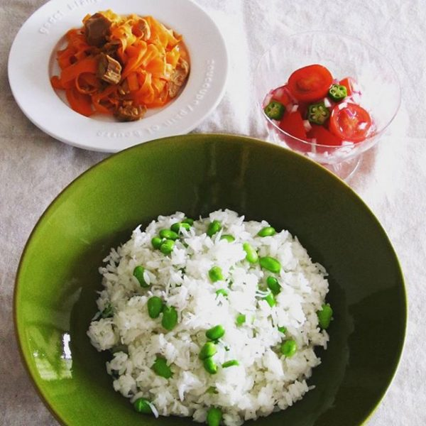 大量消費できる!枝豆としらすの混ぜご飯