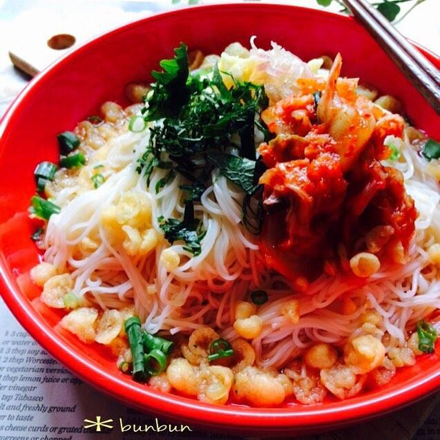 キムチの大量消費☆人気レシピ《麺類》2