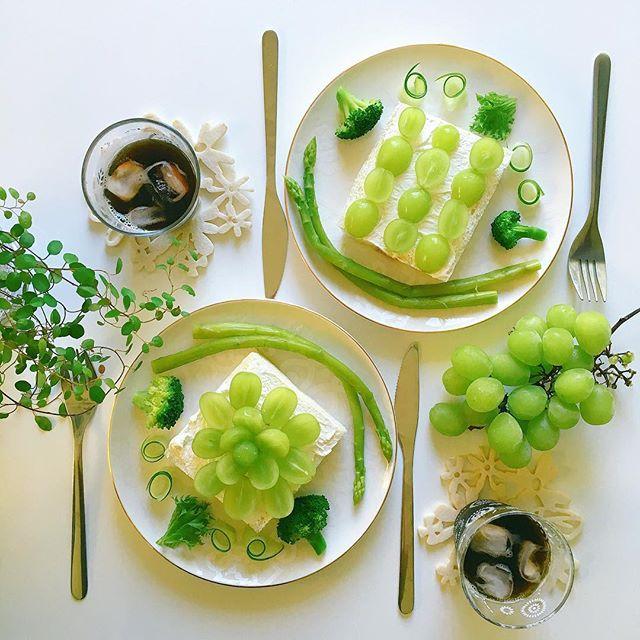 マスカットで人気の簡単なレシピ☆朝食3