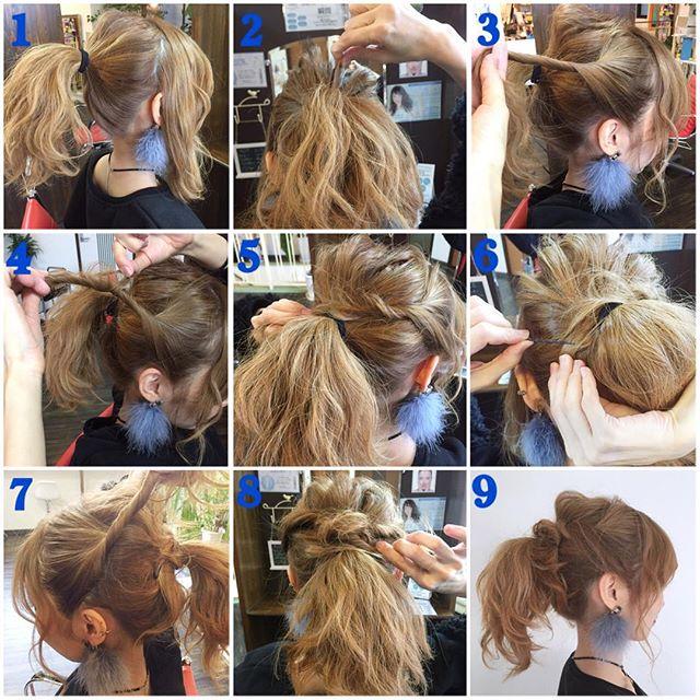 ボリュームの出るミディアムのお祭りの髪型