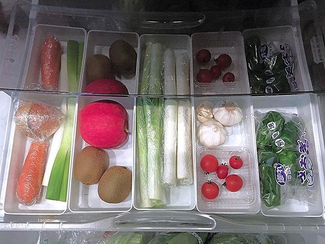 100均の粘土ケースも冷蔵庫の野菜収納に!
