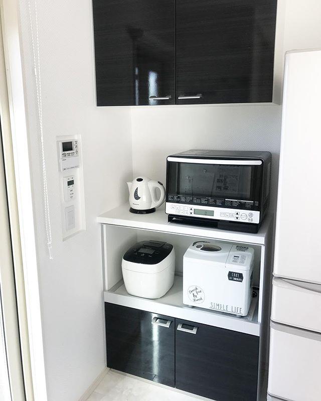 キッチン家電の収納アイデア