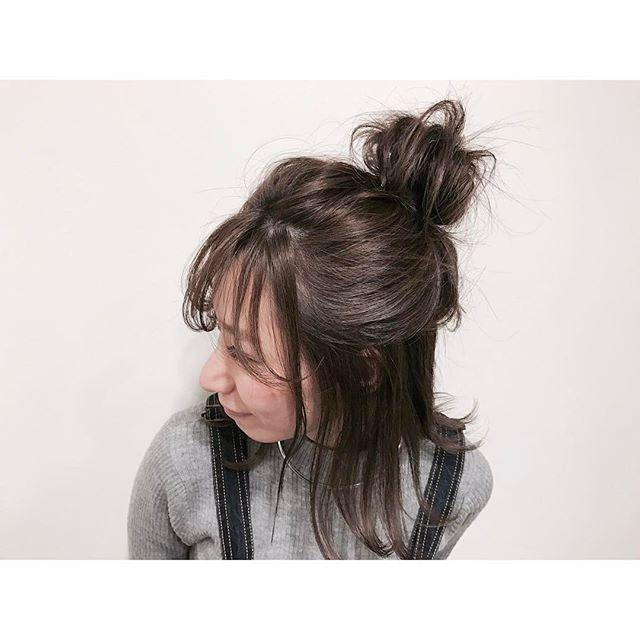 浴衣に似合うミディアムの簡単な髪型《ハーフアップ》