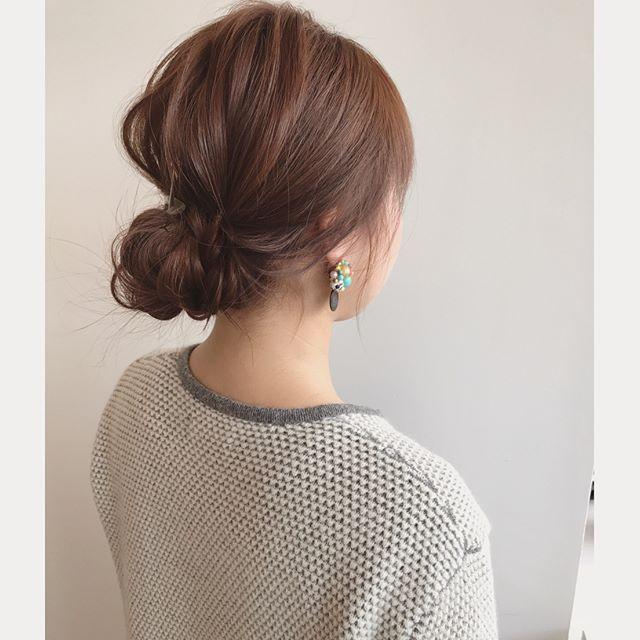 大人の色気を醸すミディアムのお祭りの髪型