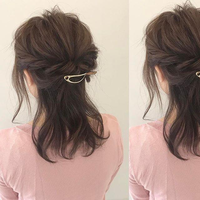 品の良さが表れるミディアムヘア