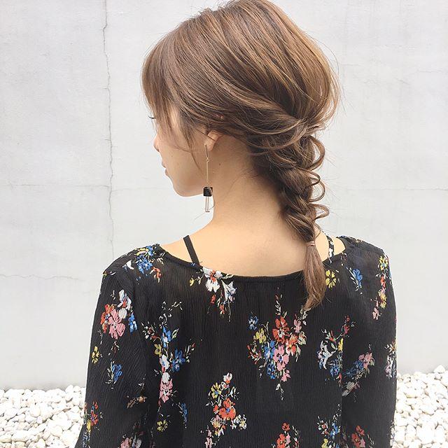 乙女な要素のつまったヘアスタイル