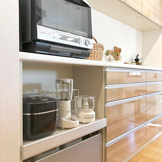 キッチン家電の収納アイデア6