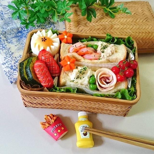 サンドイッチのお弁当☆人気レシピ《野菜サンド》2