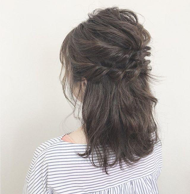 3ステップで作るミディアムのお祭りの髪型