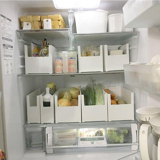 カインズの収納ケースで冷蔵庫収納