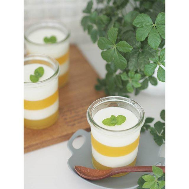 おしゃれなレシピに!オレンジカルピスゼリー