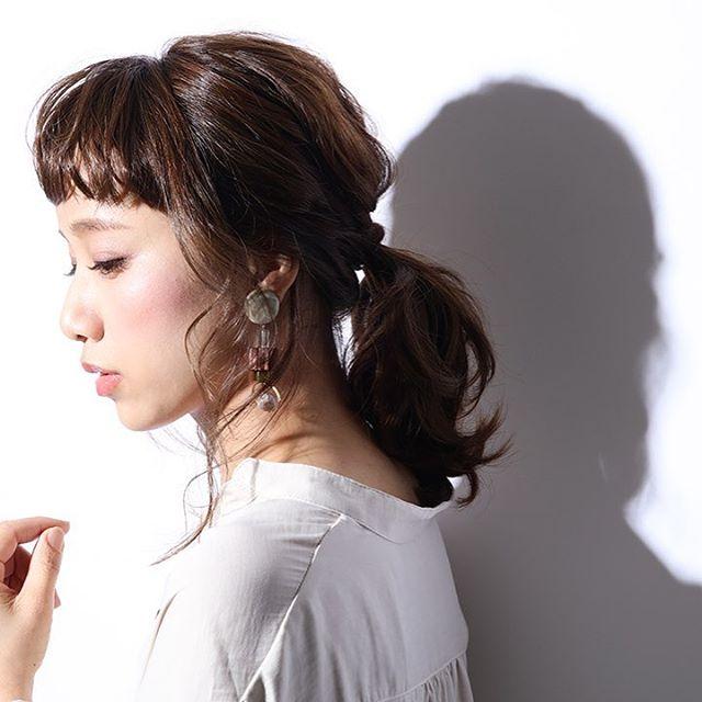浴衣に似合うミディアムの簡単な髪型《ポニー》2