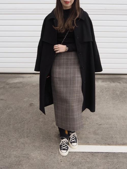 スカートが主役となる大人女子の冬コーデ