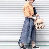 40代のロングスカート×スニーカーコーデ【2020最新】大人カジュアルを演出♪