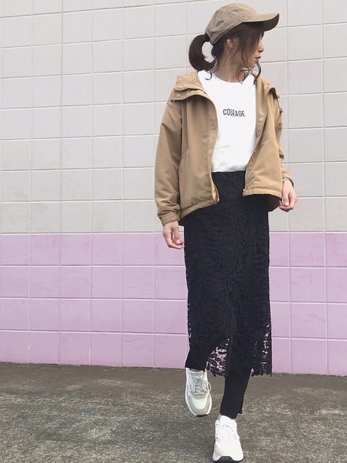 [fifth] レースロングタイトスカート