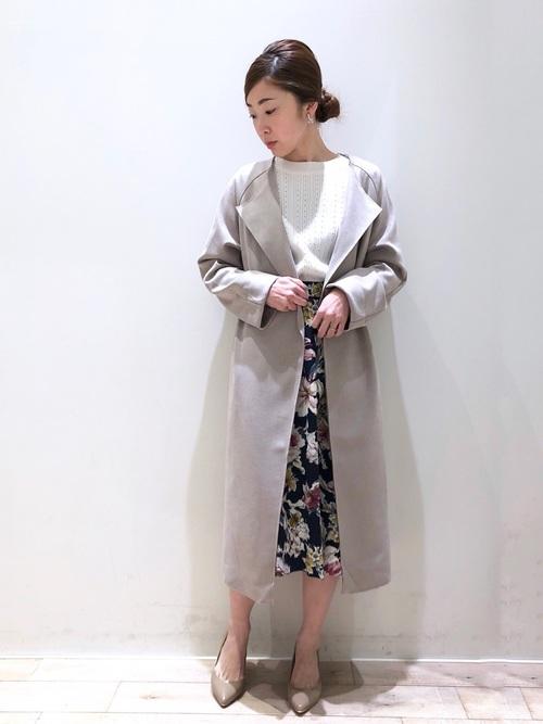 [YECCA VECCA] 【2020春夏】P.ボタニカル花柄フレアスカート*