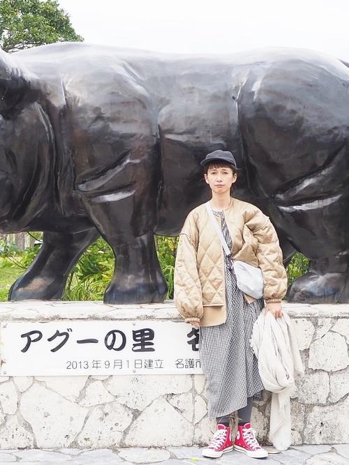 [FELISSIMO] サニークラウズ feat. Shuttle Notes kazumiのギンガムワンピース〈レディース〉