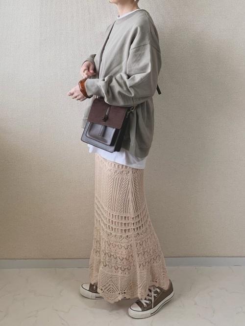 [Auntie Rosa] 【Holiday】クロシェレースニットスカート