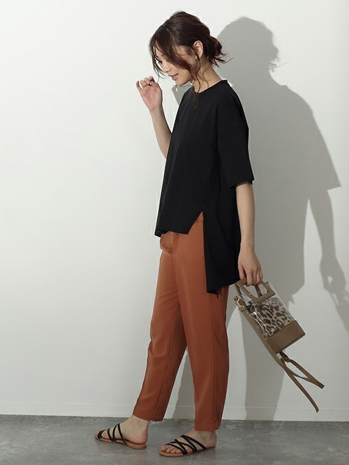 [AULI] レオパード巾着付きクリアトートバッグ