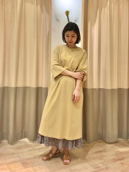 [Samansa Mos2] 花柄ギャザースカート