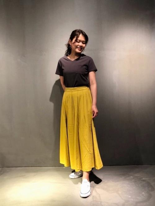 [COLONY 2139] 綿麻タックロングスカート