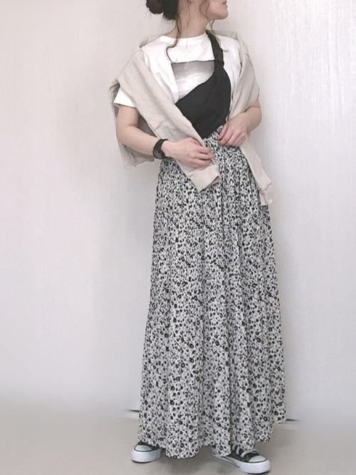しまむら 花柄スカート