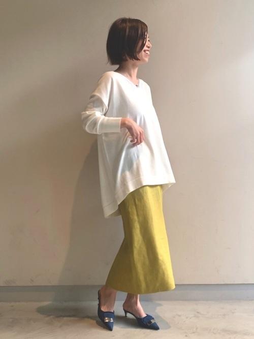 [IENA] 麻ヘリンボーンタイトスカート◆