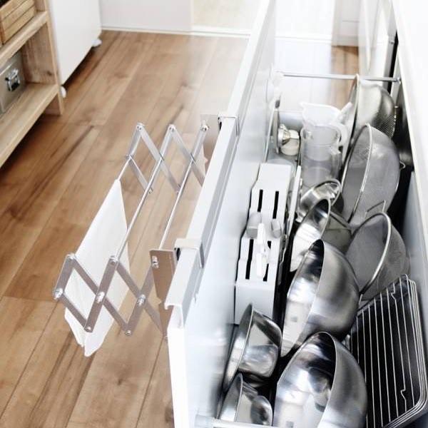 キッチンの突っ張り棒活用アイデア9