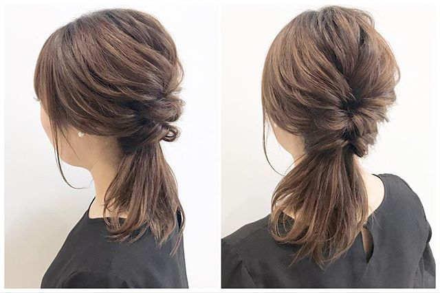 ミディアムでもゴージャス感のあるヘアスタイル