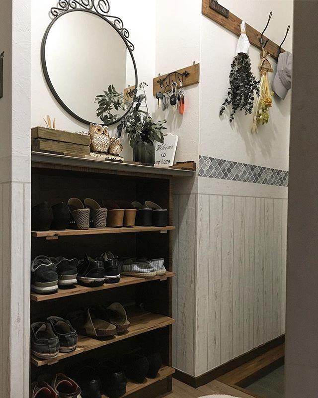 賃貸の玄関は下駄箱DIYで整理整頓