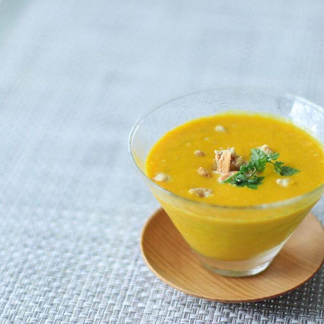 かぼちゃとナッツの冷製スープ