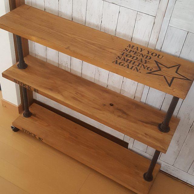 DIY家具もアイアンペイントで風合いを出す2