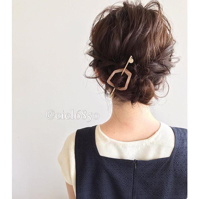 洗練された印象のミディアムのお祭りの髪型