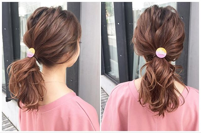 シンプルが可愛いミディアムのお祭りの髪型