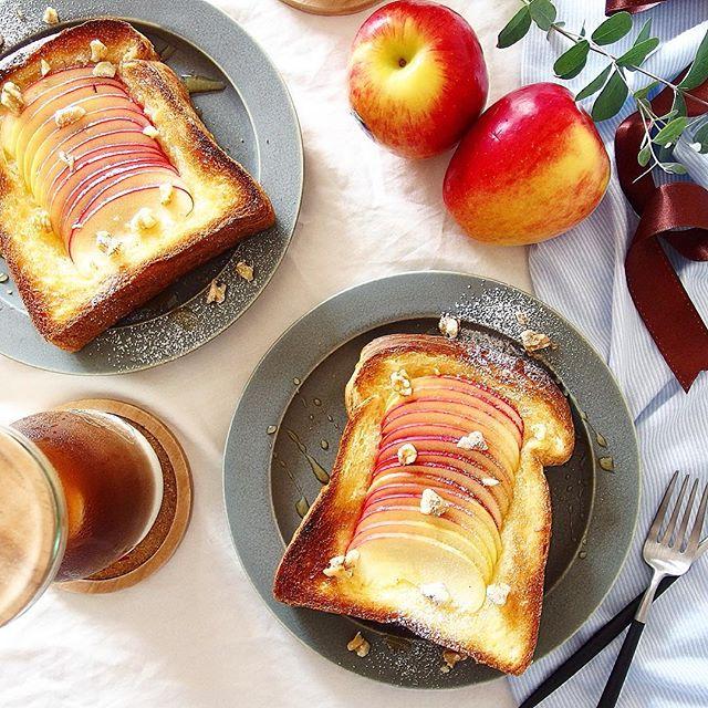 大量消費できる人気の料理!りんごトースト