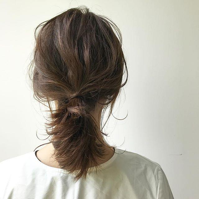 こなれ感を叶えるミディアムのお祭りの髪型