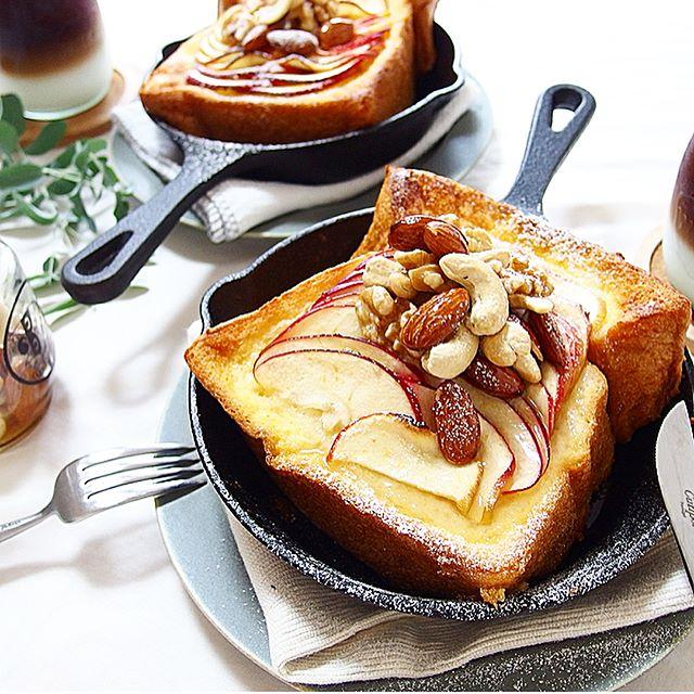 りんごを大量消費!厚切りフレンチトースト