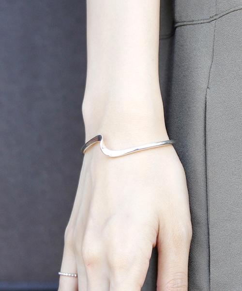 [MAISON mou] 【YArKA/ヤーカ】silver925 twist design bangle [emk]/ツイストデザインバングル[エンク]