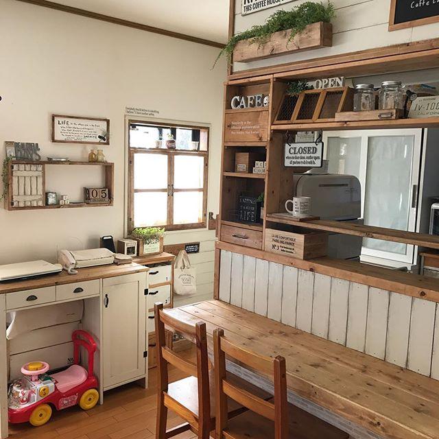 キッチンカウンター上の収納7
