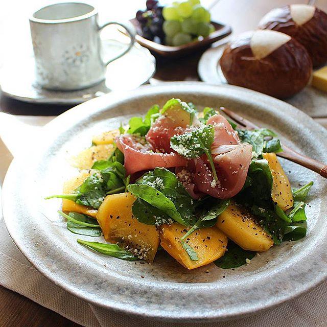 柿の人気レシピ☆簡単アレンジ《サラダ》2