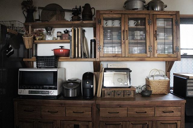 キッチン家電の収納アイデア13