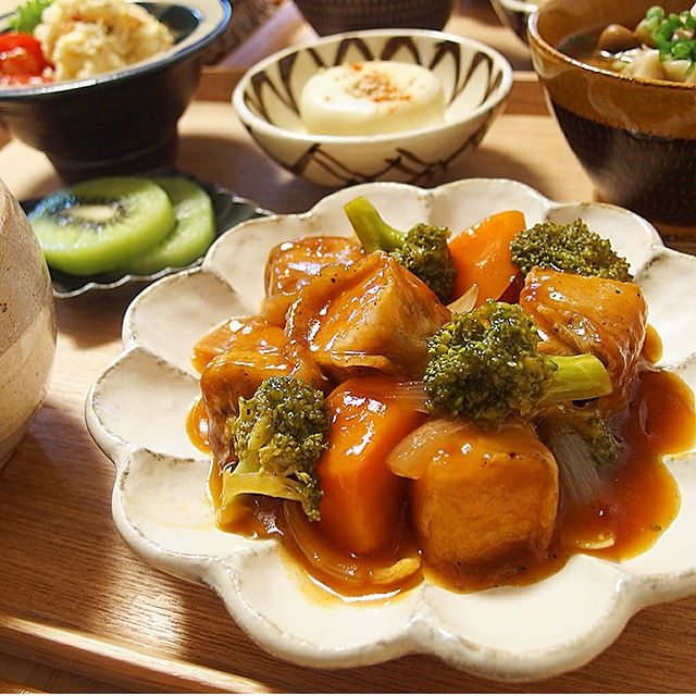 大量消費できるレシピ!簡単な厚揚げの酢豚風